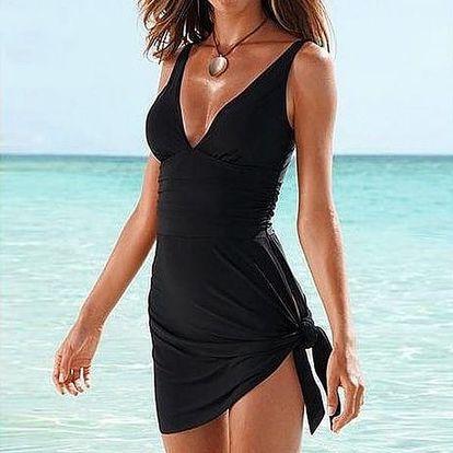 Jednodílné plavky se střihem šatů - 6 velikostí