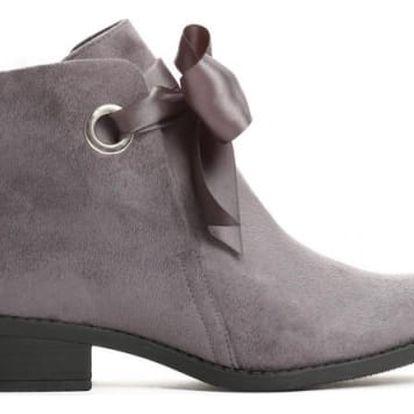 Dámské šedé kotníkové boty Bette 073