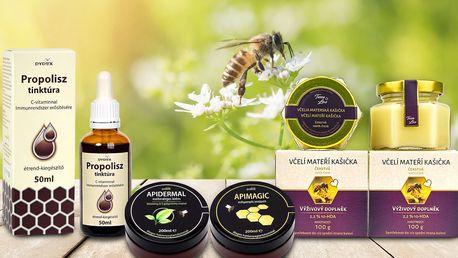 Včelí mateří kašička, pleťové krémy nebo tinktura