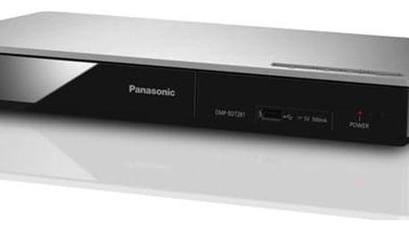 3D Blu-Ray přehrávač Panasonic DMP-BDT281EG stříbrný + DOPRAVA ZDARMA