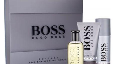 HUGO BOSS Boss Bottled dárková kazeta pro muže toaletní voda 100 ml + sprchový gel 150 ml + deodorant 150 ml