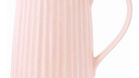 GREEN GATE Porcelánový džbán Alice pale pink 850 ml, růžová barva, porcelán