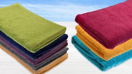 Ručníky ze 100% bavlny v různých barvách