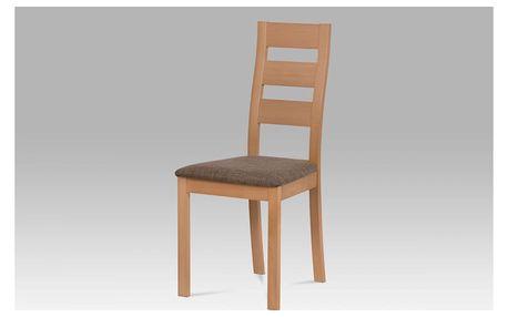 Jídelní židle masiv buk, barva buk, potah hnědý melír BC-2603 BUK3 Autronic