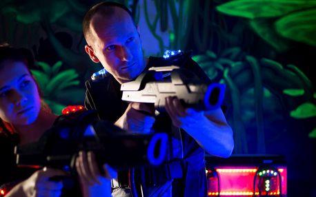 Laser game pro 1–5 hráčů a nápoj podle výběru