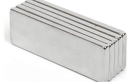 Super silný neodymový magnet ve tvaru kvádru - 10 kusů