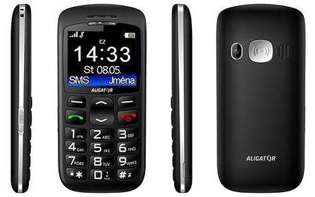 Mobilní telefon Aligator A670 Senior černý (A670B)