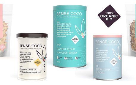 100% přírodní BIO produkty z kokosu SENSE COCO