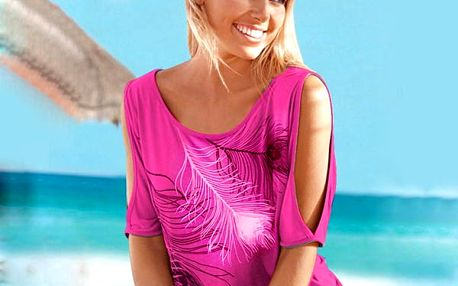 Dámské tričko s pírky a odhalenými rameny - 6 barev