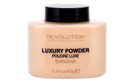 Makeup Revolution London Luxury Powder 42 g pudr pro ženy Banana