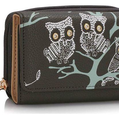 Dámská peněženka Owl 1045 šedá