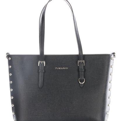 Flora&co Dámská kabelka s cvočky kabelka na rameno lodičkový tvar