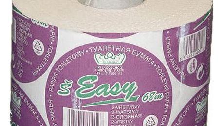 Toaletní papír Easy Ekonomik - přírodní barva 2vrstvý 1 ks