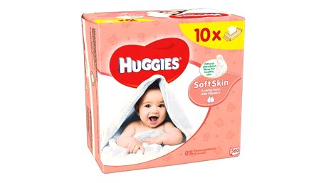 Huggies Soft Skin 10 x 56ks