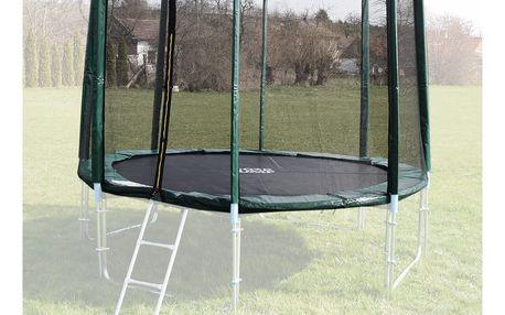 Ochranná síť na trampolínu 305 cm - PVC - na 8 trubek- zelená