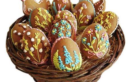 Velikonoční perníčky v košíku