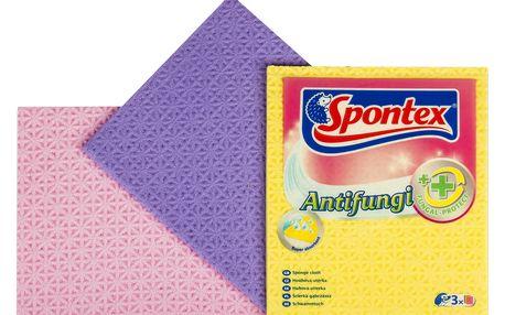 Spontex Antifungi antibakteriální houbová utěrka 3 ks