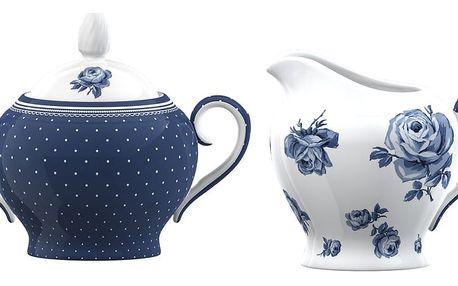 Porcelánová cukřenka a mléčenka Creative Tops Vintage Indigo