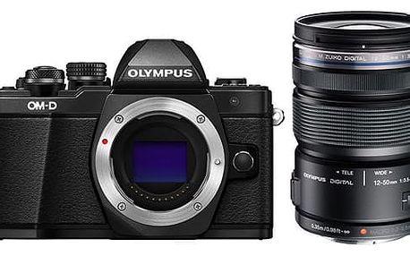 Digitální fotoaparát Olympus E-M10 II 1250 + objektiv 12-50mm 3,5-6,3 černý (V207050BE010)
