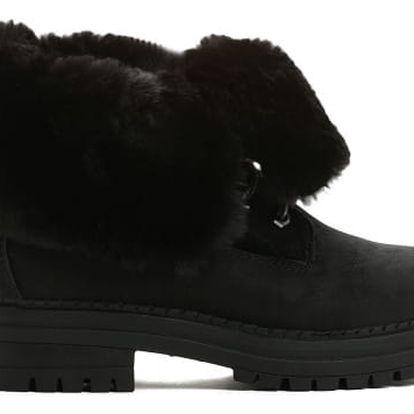 Dámské černé kotníkové boty Lorelain 054