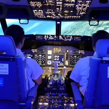 Simulátor letu v Boeingu 737