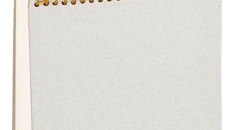 Čtvercový zápisník se zlatou spirálou House Doctor
