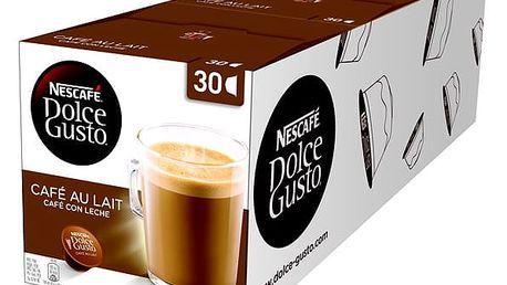 Set (3x Kapsle pro espressa Nescafé Dolce Gusto Cafe AuLait 30 ks)