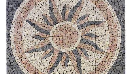 Divero Garth 765 Mramorová mozaika - motiv slunce 120x120