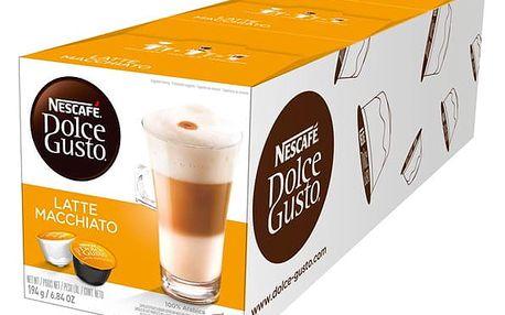Set (3x Kapsle pro espressa Nescafé Dolce Gusto LATTÉ MACCHIATTO )