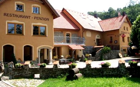 Ubytování v penzionu Nemanský Mlýn pro dvě osoby, polopenze, hřiště, vyhřívaný venkovní bazén aj.