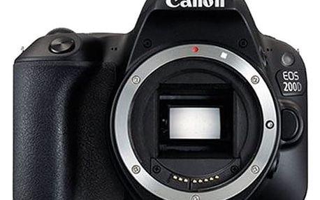 Digitální fotoaparát Canon EOS 200D černý (2250C001)