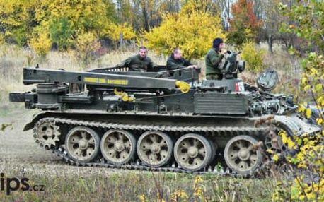 Řízení tréninkového typu tanku nebo tanku VT-55