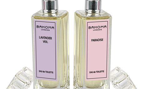 Sada 2 toaletních vod Bahoma London Lavender Veil & Paradise