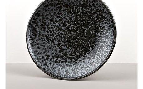 MIJ Mělký talíř Black Pearl 25 cm