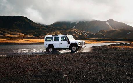 Tréninková jízda v Land Roveru