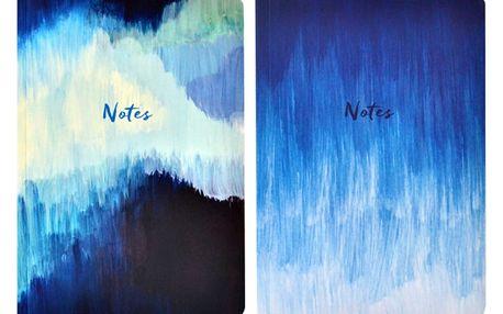 Sada 2 zápisníků Portico Designs Blue Abstract, 100stránek