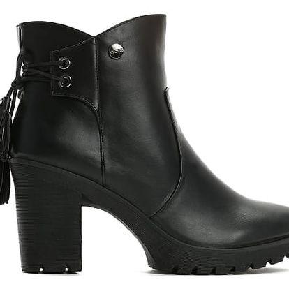 Dámské černé kotníkové boty Anife 6183