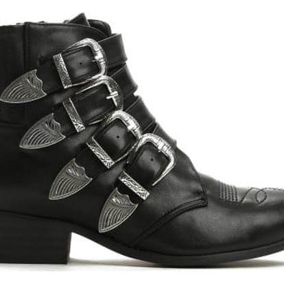 Dámské černé kotníkové boty Kesley 8339