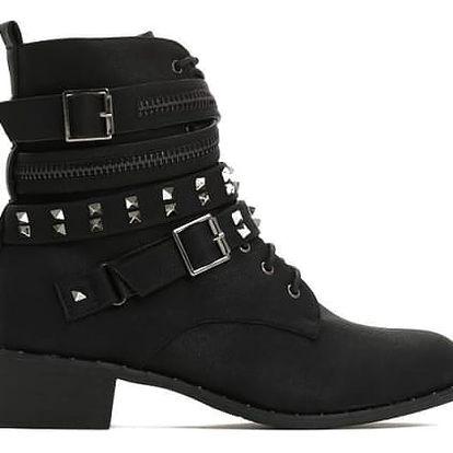 Dámské černé kotníkové boty Roxana 6157