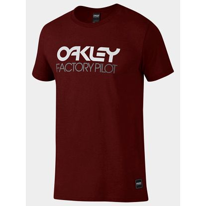 Tričko Oakley FP LOGO S/S TEE Červená