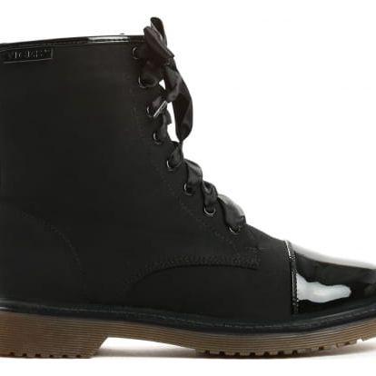 Dámské černé kotníkové boty Donatella 6151