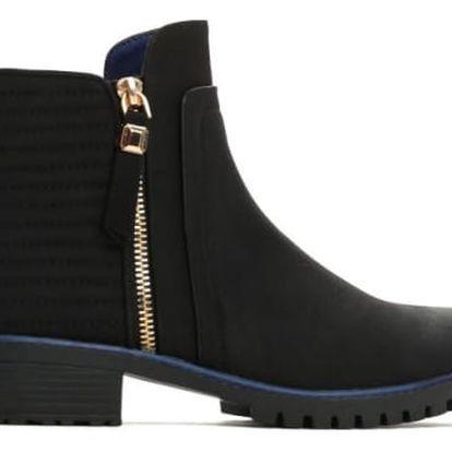 Dámské černé matné kotníkové boty Jersey 2129a
