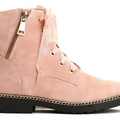 Dámské růžové kotníkové boty Loris 1267