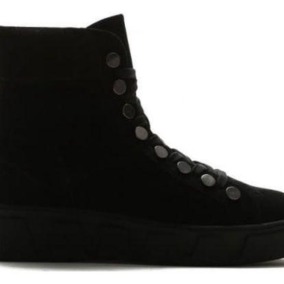 Dámské černé kotníkové boty Vally 0045