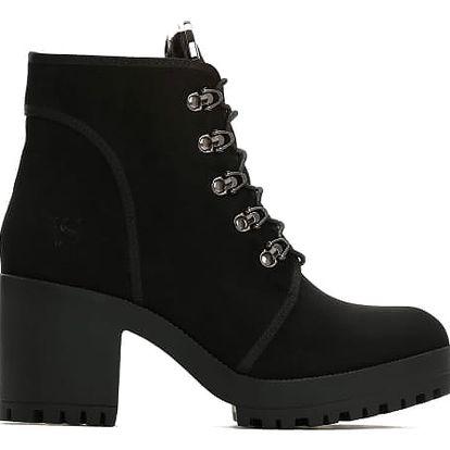 Dámské černé matné kotníkové boty Georgie 2111