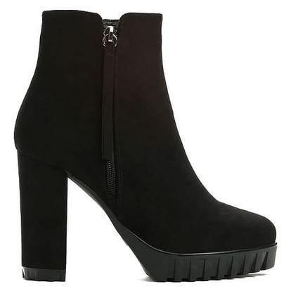 Dámské černé semišové kotníkové boty Lusija 3144a