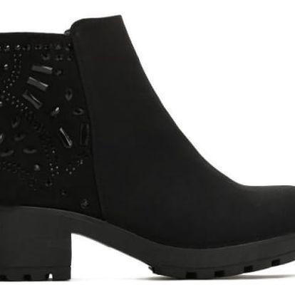 Dámské černé kotníkové boty Jennet 2124