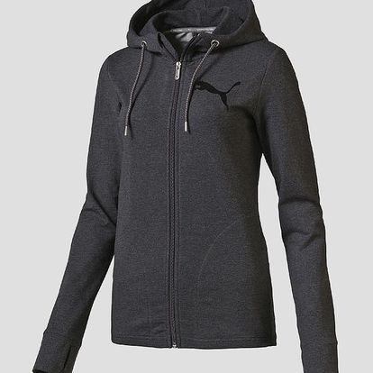 Mikina Puma ACTIVE Track Jacket W dark gray heather Černá