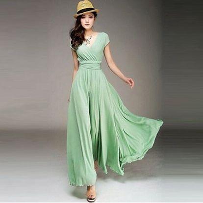 Dámské šaty s V výstřihem - 4 barvy