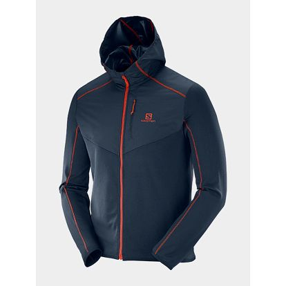 Bunda Salomon DISCOVERY WIND HOODIE M BIG BLUE-X Modrá
